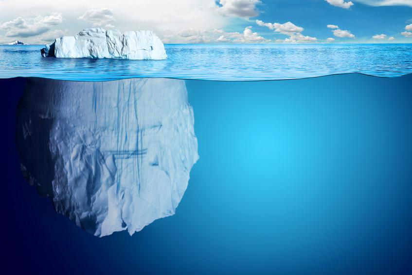Mache es bei der Informationsvergabe wie ein Eisberg: Zeige dem Leser nur einen Bruchteil.